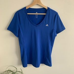Adidas - Blue Short Sleeve Workout Top - Climalite